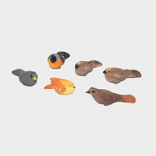 Krippenfiguren Vogelset 6tlg