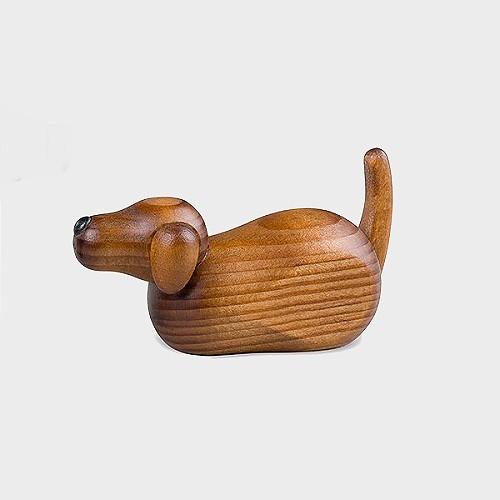 Köhler 141/341 Krippenfigur Hirtenhund zur Krippe liegend, braun