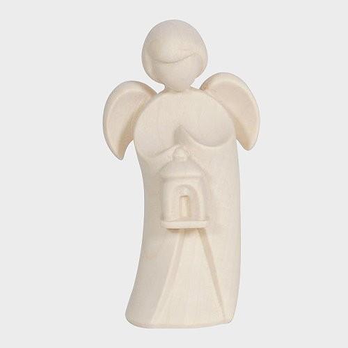 Engel aus Holz, Holzengel, Pema Engel mit Laterne