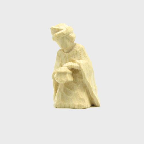 Anna 8110 Krippenfigur König kniend natur