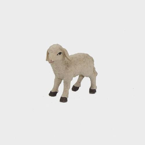 Krippenfigur Lamm stehend linksschauend aus Holz