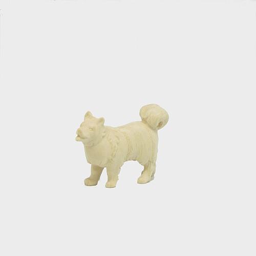 PEMA 156 natur Krippenfigur Hund Spitz