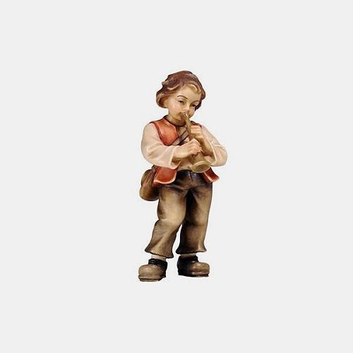Mahlknecht 072 Krippenfigur Bub mit Trompete
