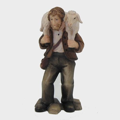 Mahlknecht 019 Krippenfigur Hirte mit Schaf auf Schulter