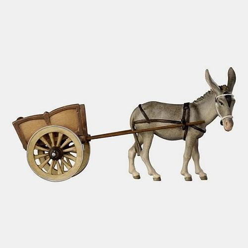 Rainell 187 Krippenfigur Esel mit Karren