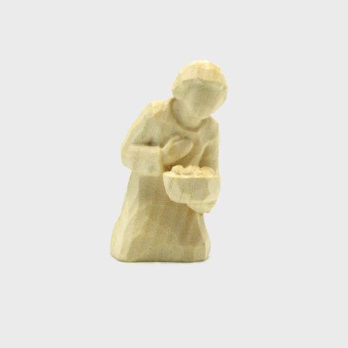 Anna 8120 Krippenfigur Hirte kniend natur