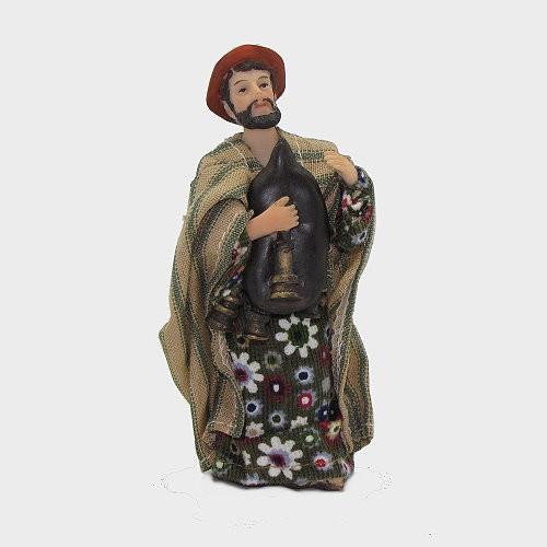 Krippenfigur Dudelsackspieler orientalisch bekleidet