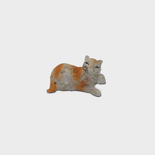 Krippenfigur Katze