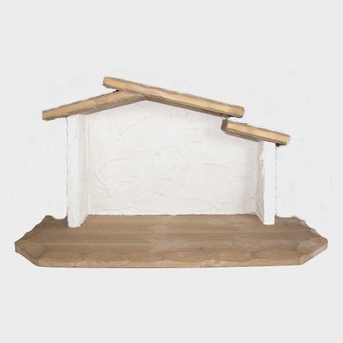 Krippenstall einfach für 12-14cm große Krippenfiguren