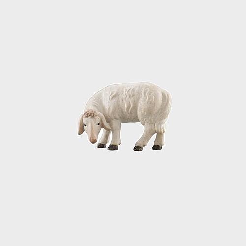 Advent 256 Krippenfigur aus Eschenholz Schaf äsend linksschauend