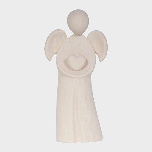 Engel aus Holz, Holzengel, Engel Amore mit Herz