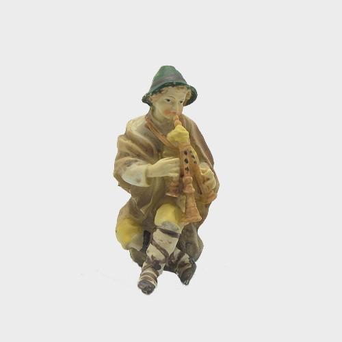 Krippenfigur Musiker mit Dudelsack