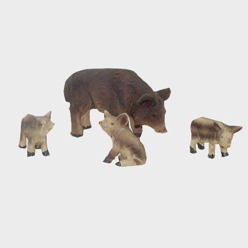 Krippenfiguren Wildschweine