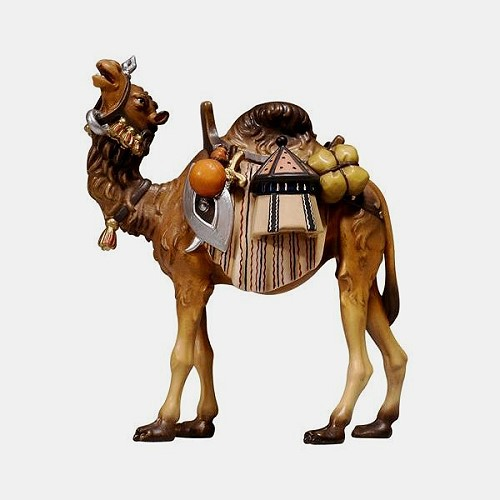 Handbemalte Kostner 171 Krippenfigur Kamel mit Gepäck