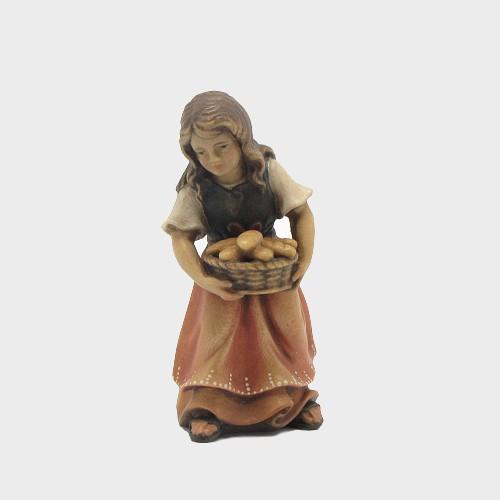 Mahlknecht 020 Krippenfigur Mädchen mit Brotkorb
