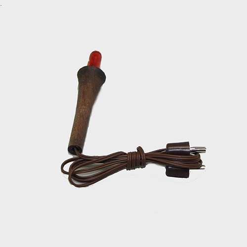 Krippenbeleuchtung Fackel mit Halter 3,5V