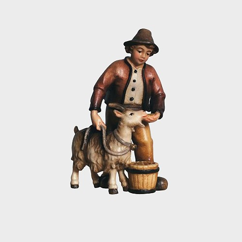 Kostner 016 Krippenfigur Junge mit Ziege