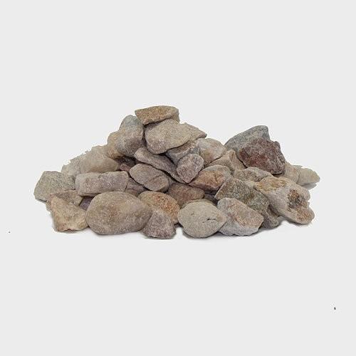 Krippendekoration Steine rötlich