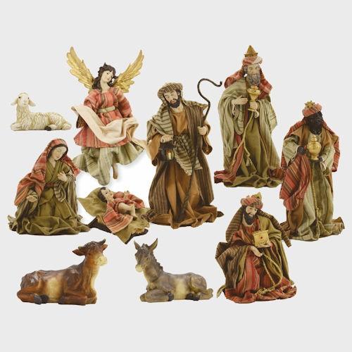 Krippenfiguren bekleidet Orientalisch