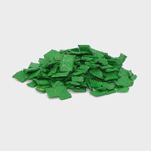 Krippendekoration Holzspäne 5-10mm grün