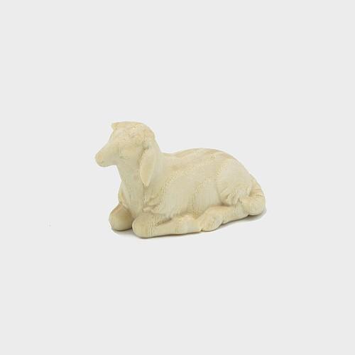 PEMA 251 natur Krippenfigur Schaf liegend vorwärtsschauend