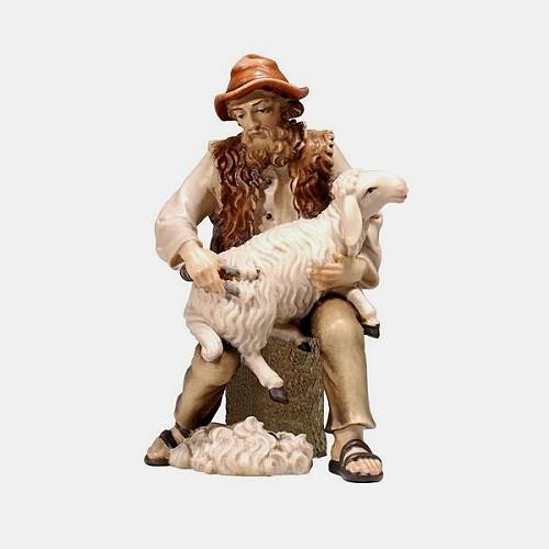 Handbemalte Kostner 082 Krippenfigur Schafscherer