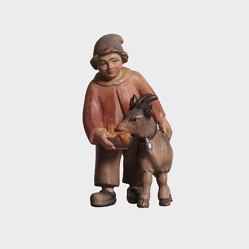 PEMA 022 Krippenfigur Bub mit Ziege