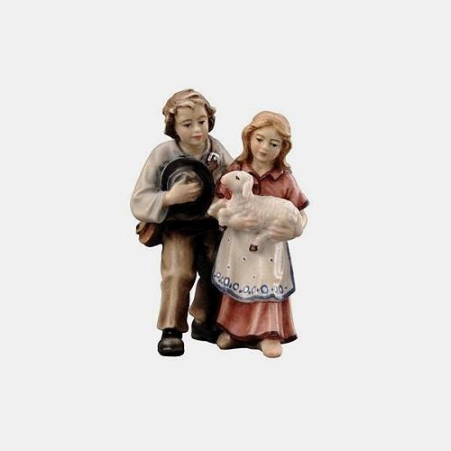 Handbemalte Kostner 027 Krippenfigur Kinderpaar