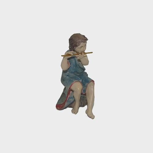 Krippenfigur Musiker sitzend