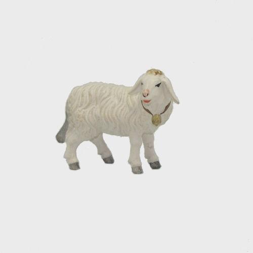 Zirbel 264 Krippenfigur Schaf stehend mit Glocke