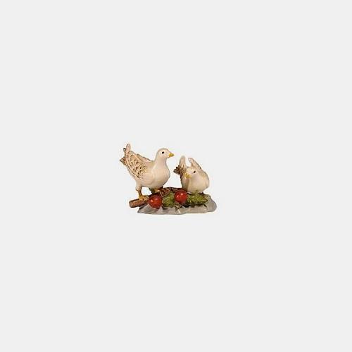 Handbemalte Kostner 166 Krippenfigur Taubenpaar