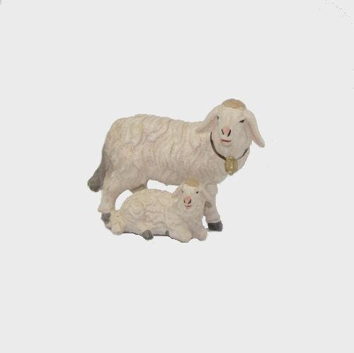 Zirbel 276 Krippenfigur Schaf stehend mit Lamm