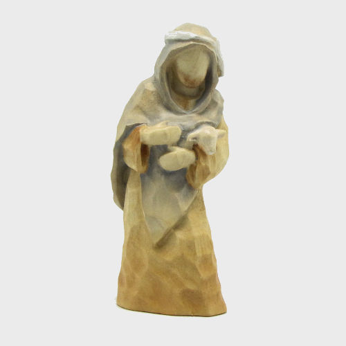 Anna 8123 Krippenfigur Hirte mit Lamm im Arm