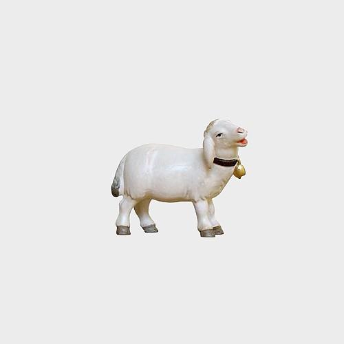 PEMA 264 Krippenfigur Schaf stehend mit Glocke rechtsschauend