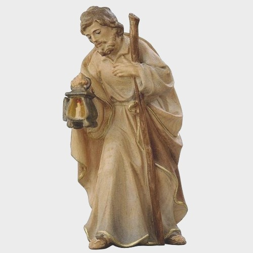 Krippenfigur Zirbel 001 Heiliger Josef