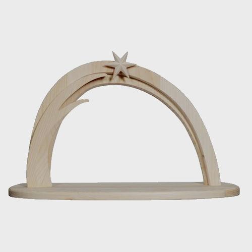 Krippenstall Leonardo hell aus Holz