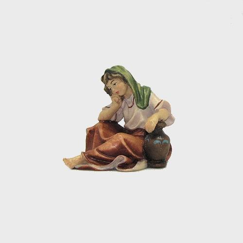 Nazareth Krippenfigur Frau sitzend mit Krug