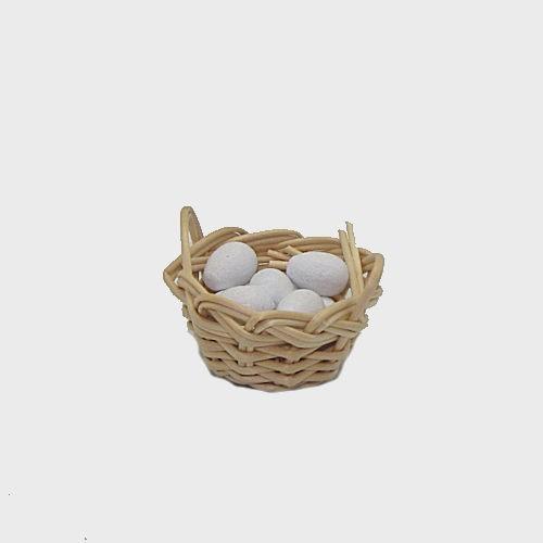 Krippendekoration Korb mit 10 Eier