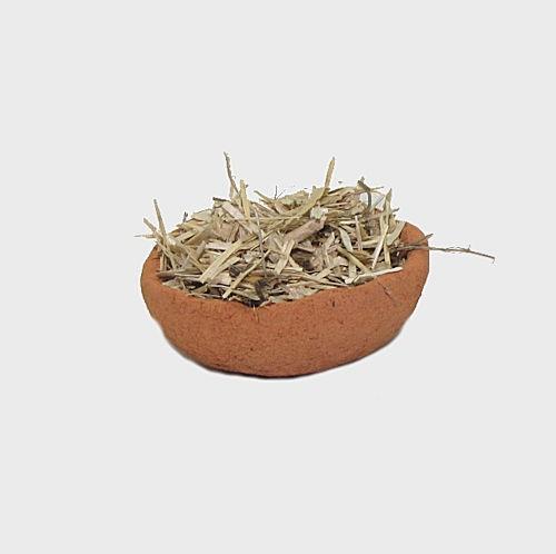 Krippendekoration Tonschale / Futtertrog