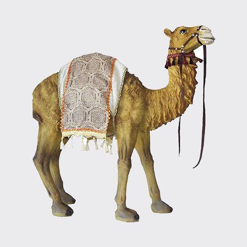 Krippenfigur Kamel mit Decke