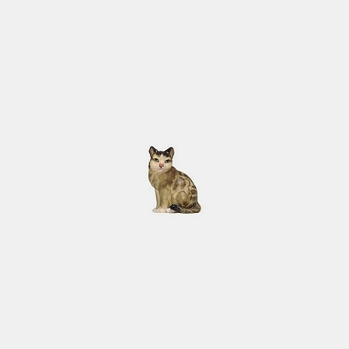 Handbemalte Kostner 162 Krippenfigur Katze