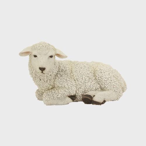 Krippenfigur Schaf liegend 20cm groß