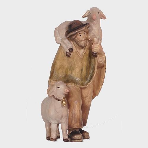 PEMA 046 Krippenfigur Hirte mit zwei Schafe