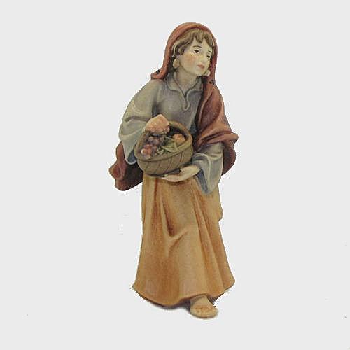 Nazareth Krippenfigur Frau mit Obstkorb