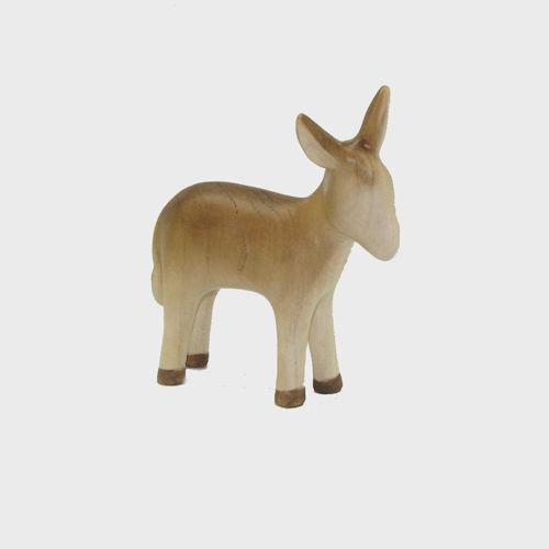 Fides 4632 color Krippenfigur aus Ahornholz Esel