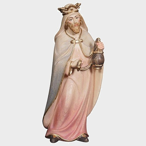 Advent 013 Krippenfigur aus Eschenholz König weiß