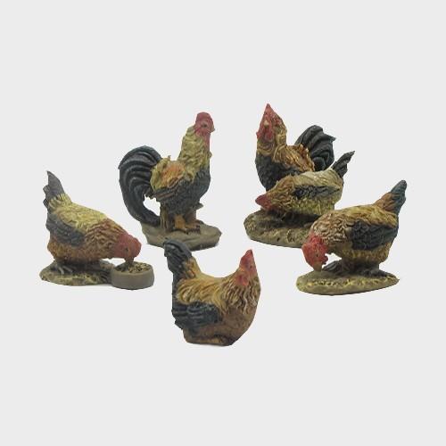 Krippenfiguren Hühner