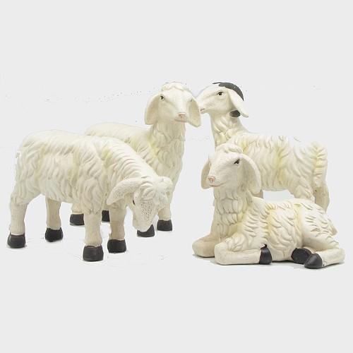 Krippenfiguren Schafe 4tlg.