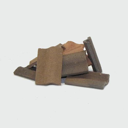 Krippenbau Dachschindeln aus Ton