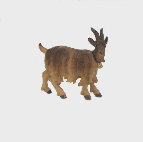 Zirbel 215 Krippenfigur Ziege mit Glöckchen rechtsschauend